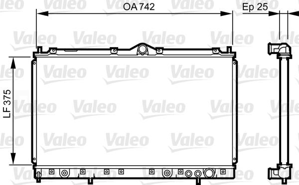 Radiateur, refroidissement du moteur - VALEO - 731641