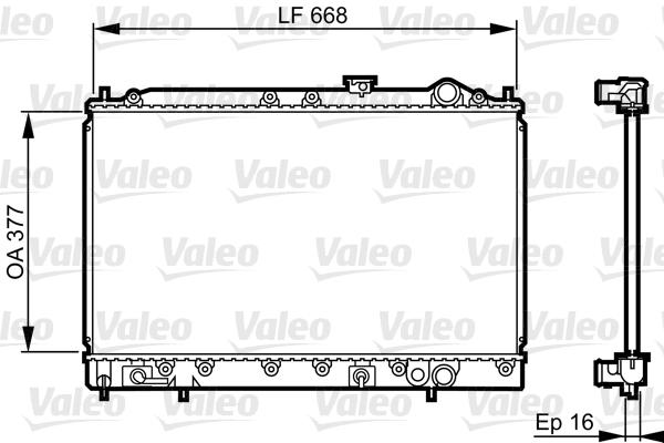 Radiateur, refroidissement du moteur - VALEO - 731642