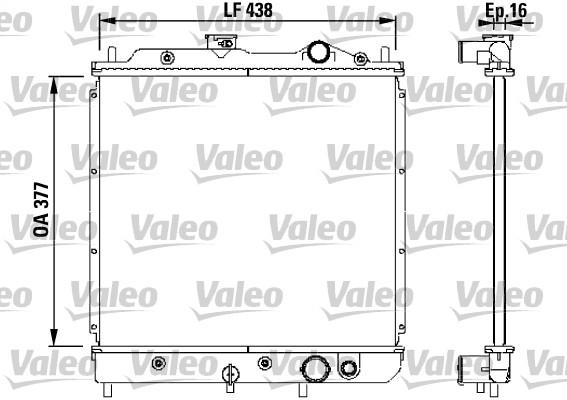 Radiateur, refroidissement du moteur - VALEO - 731646
