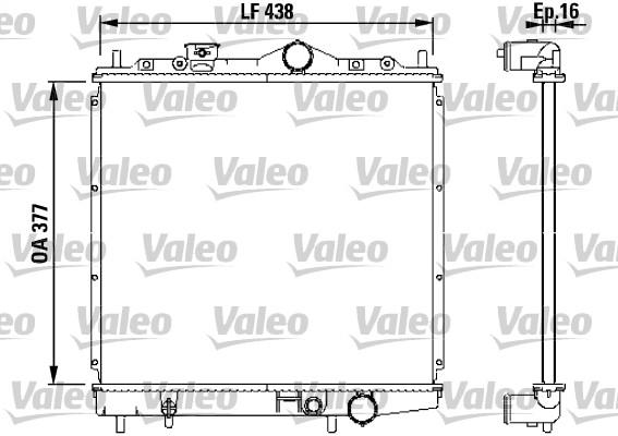 Radiateur, refroidissement du moteur - VALEO - 731647
