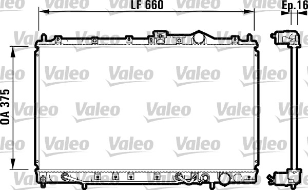 Radiateur, refroidissement du moteur - VALEO - 731648