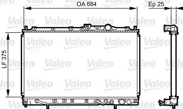 Radiateur, refroidissement du moteur - VALEO - 731649