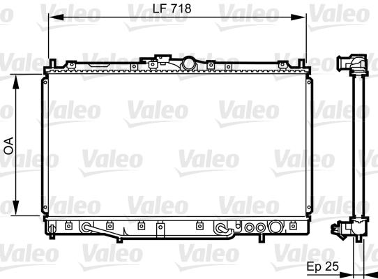 Radiateur, refroidissement du moteur - VALEO - 731650