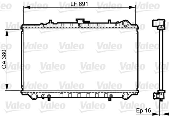 Radiateur, refroidissement du moteur - VALEO - 731656