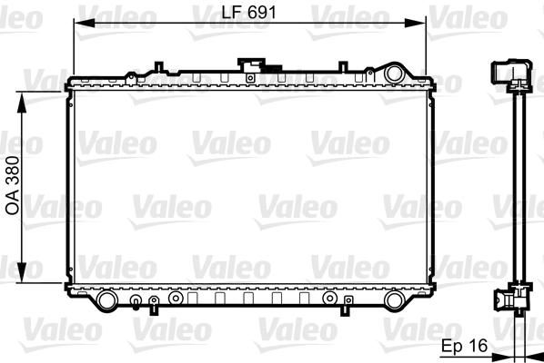 Radiateur, refroidissement du moteur - VALEO - 731657