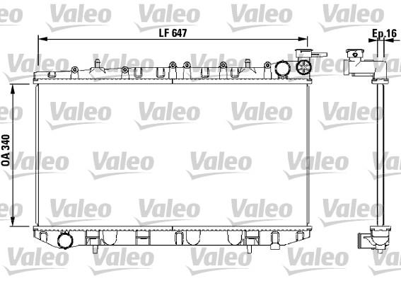 Radiateur, refroidissement du moteur - VALEO - 731659