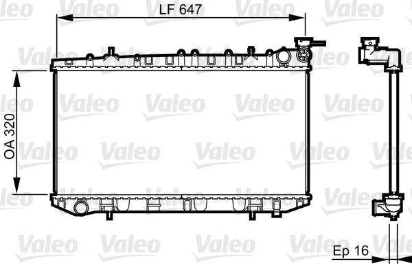 Radiateur, refroidissement du moteur - VALEO - 731664