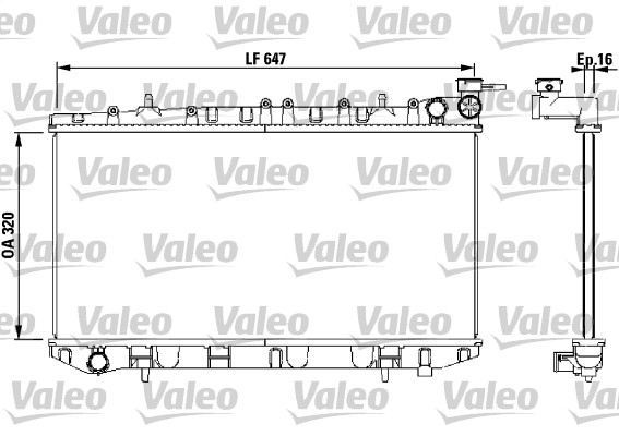 Radiateur, refroidissement du moteur - VALEO - 731670