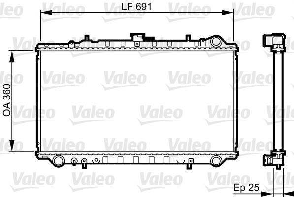 Radiateur, refroidissement du moteur - VALEO - 731674