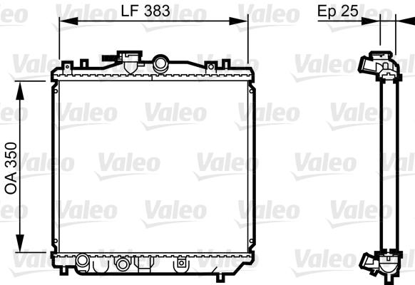 Radiateur, refroidissement du moteur - VALEO - 731677