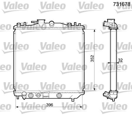 Radiateur, refroidissement du moteur - VALEO - 731678