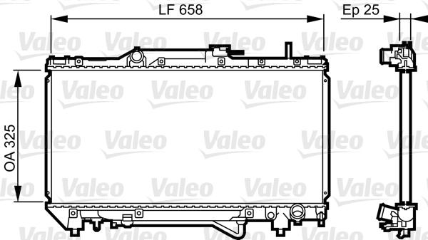 Radiateur, refroidissement du moteur - VALEO - 731682
