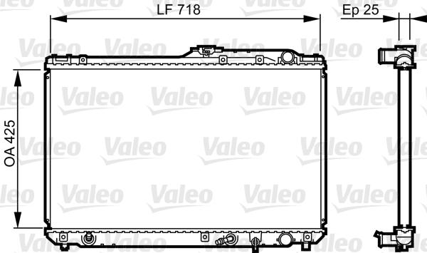 Radiateur, refroidissement du moteur - VALEO - 731684