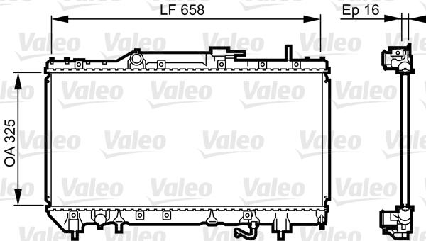 Radiateur, refroidissement du moteur - VALEO - 731685