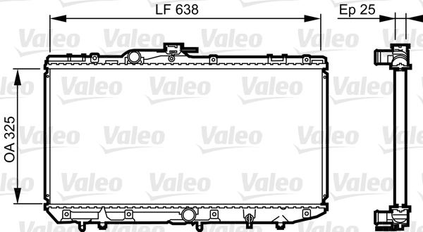 Radiateur, refroidissement du moteur - VALEO - 731688