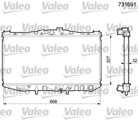 Radiateur, refroidissement du moteur - VALEO - 731691