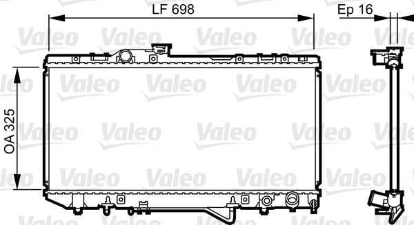 Radiateur, refroidissement du moteur - VALEO - 731694