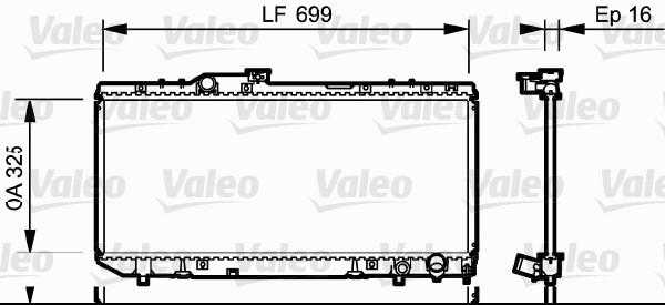 Radiateur, refroidissement du moteur - VALEO - 731696