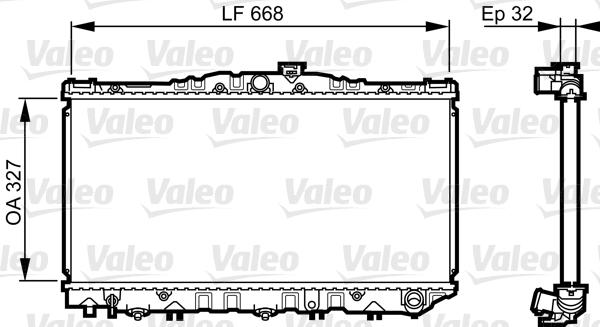 Radiateur, refroidissement du moteur - VALEO - 731698