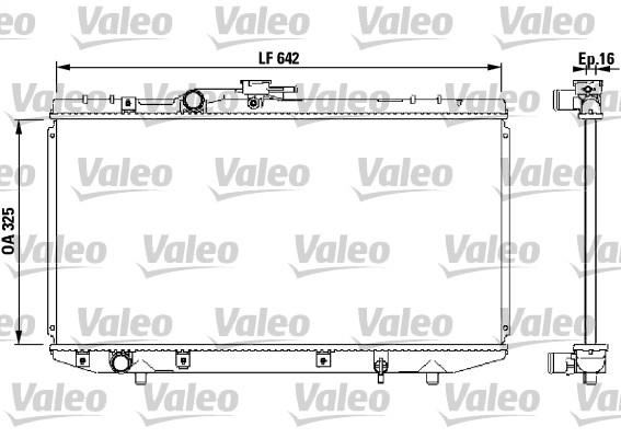 Radiateur, refroidissement du moteur - VALEO - 731714