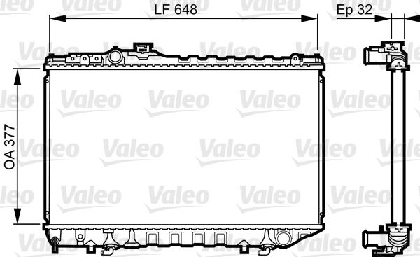 Radiateur, refroidissement du moteur - VALEO - 731715