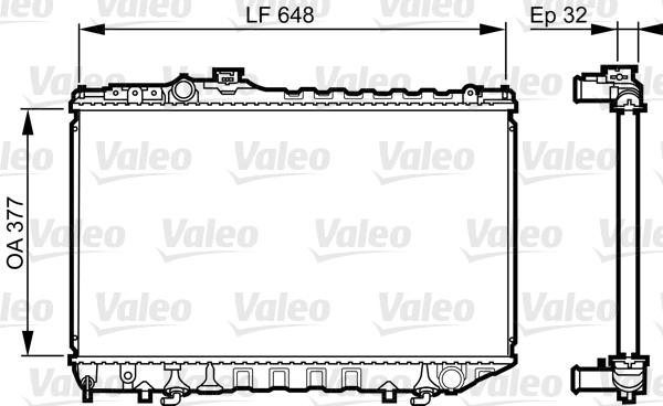 Radiateur, refroidissement du moteur - VALEO - 731716