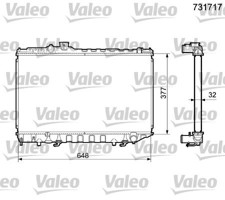 Radiateur, refroidissement du moteur - VALEO - 731717
