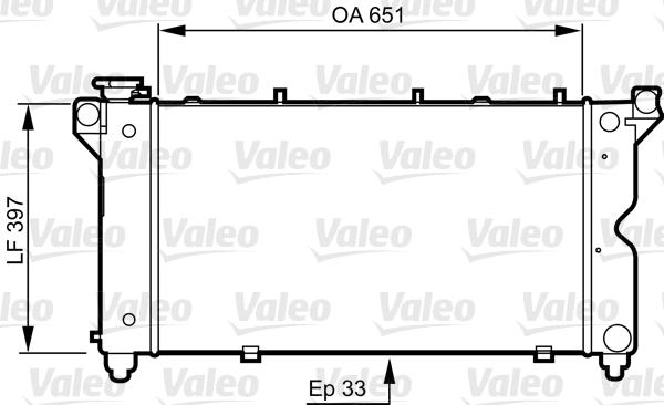 Radiateur, refroidissement du moteur - VALEO - 731723