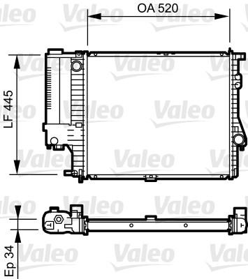 Radiateur, refroidissement du moteur - VALEO - 731725