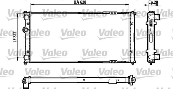 Radiateur, refroidissement du moteur - VALEO - 731728