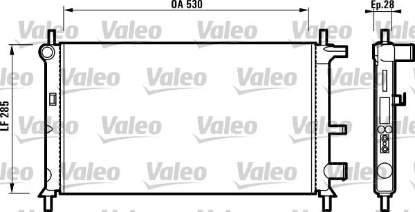 Radiateur, refroidissement du moteur - VALEO - 731735