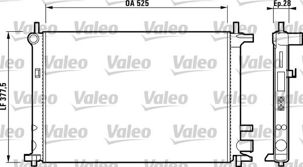 Radiateur, refroidissement du moteur - VALEO - 731736