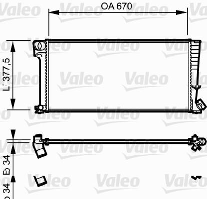 Radiateur, refroidissement du moteur - VALEO - 731743