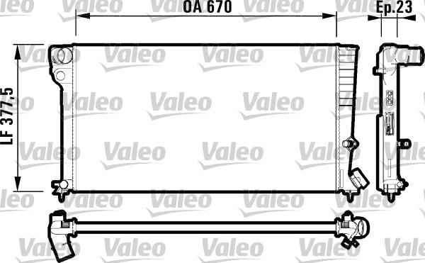 Radiateur, refroidissement du moteur - VALEO - 731744