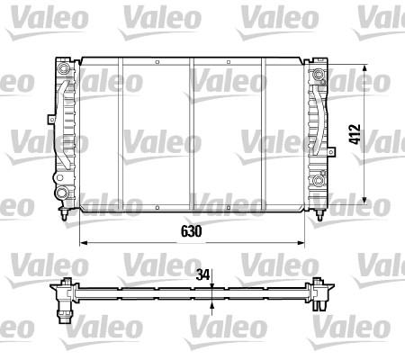 Radiateur, refroidissement du moteur - VALEO - 731755
