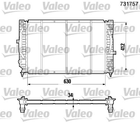 Radiateur, refroidissement du moteur - VALEO - 731757