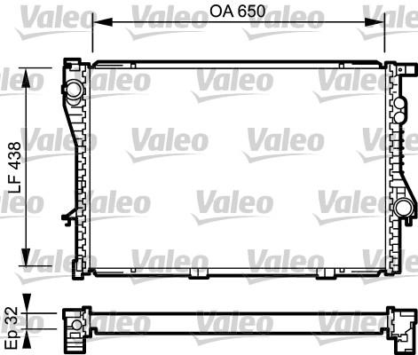 Radiateur, refroidissement du moteur - VALEO - 731766