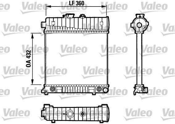 Radiateur, refroidissement du moteur - VALEO - 731804