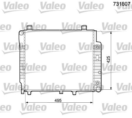 Radiateur, refroidissement du moteur - VALEO - 731807