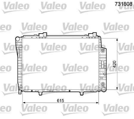 Radiateur, refroidissement du moteur - VALEO - 731808