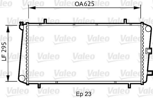 Radiateur, refroidissement du moteur - VALEO - 731811