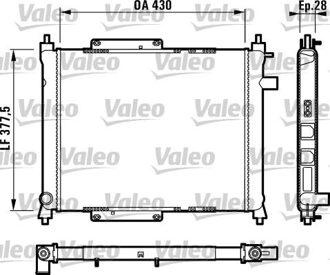Radiateur, refroidissement du moteur - VALEO - 731815