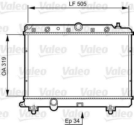 Radiateur, refroidissement du moteur - VALEO - 731817