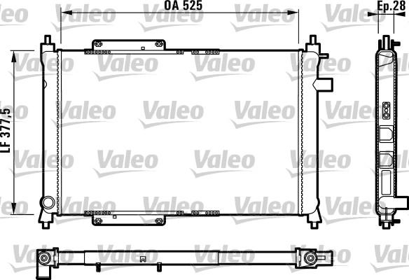 Radiateur, refroidissement du moteur - VALEO - 731818