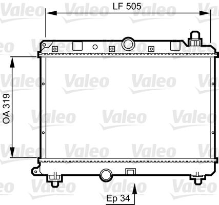 Radiateur, refroidissement du moteur - VALEO - 731820