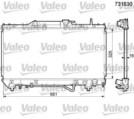 Radiateur, refroidissement du moteur - VALEO - 731830