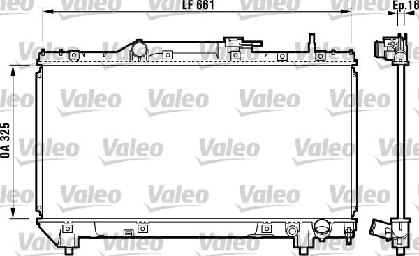 Radiateur, refroidissement du moteur - VALEO - 731831