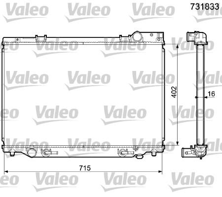 Radiateur, refroidissement du moteur - VALEO - 731833