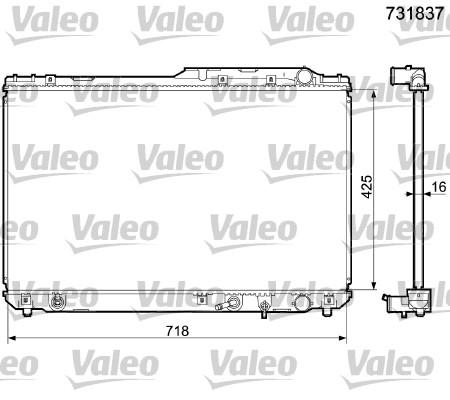 Radiateur, refroidissement du moteur - VALEO - 731837