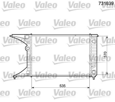 Radiateur, refroidissement du moteur - VALEO - 731839
